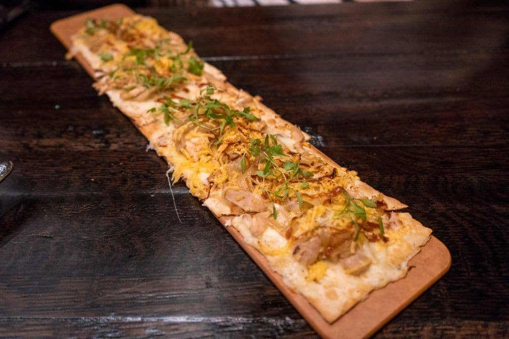 BBQ Chicken Flatbread at Toothsome Chocolate Emporium at Universal Orlando CityWalk