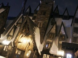The Wizard World of Harry Potter at night – March 31, 2012.
