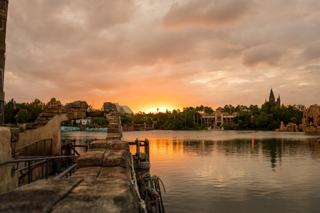 Universal Orlando in the evening