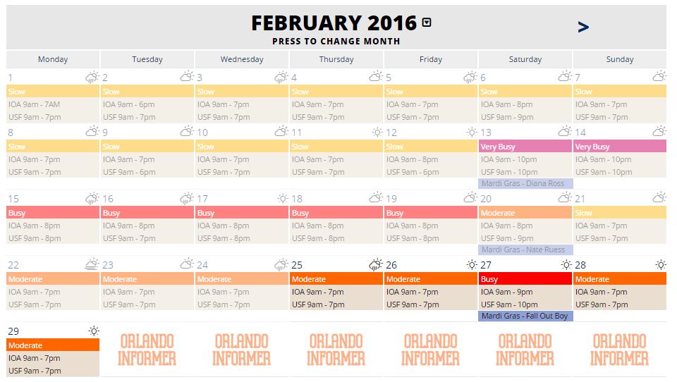 OI New Crowd Calendar