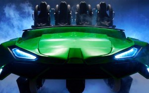 New Incredible Hulk Coaster ride vehicle