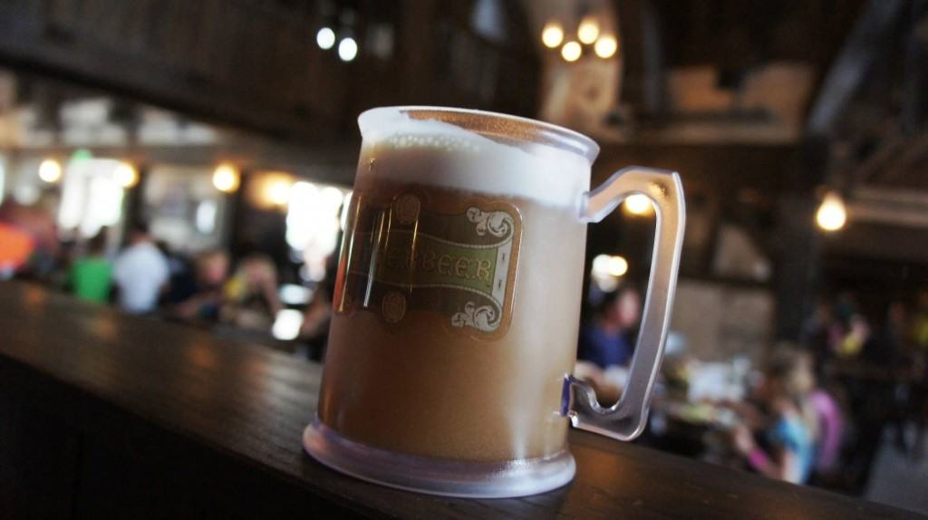 Butterbeer in a souvenir cup from the Wizarding World of Harry Potter ...