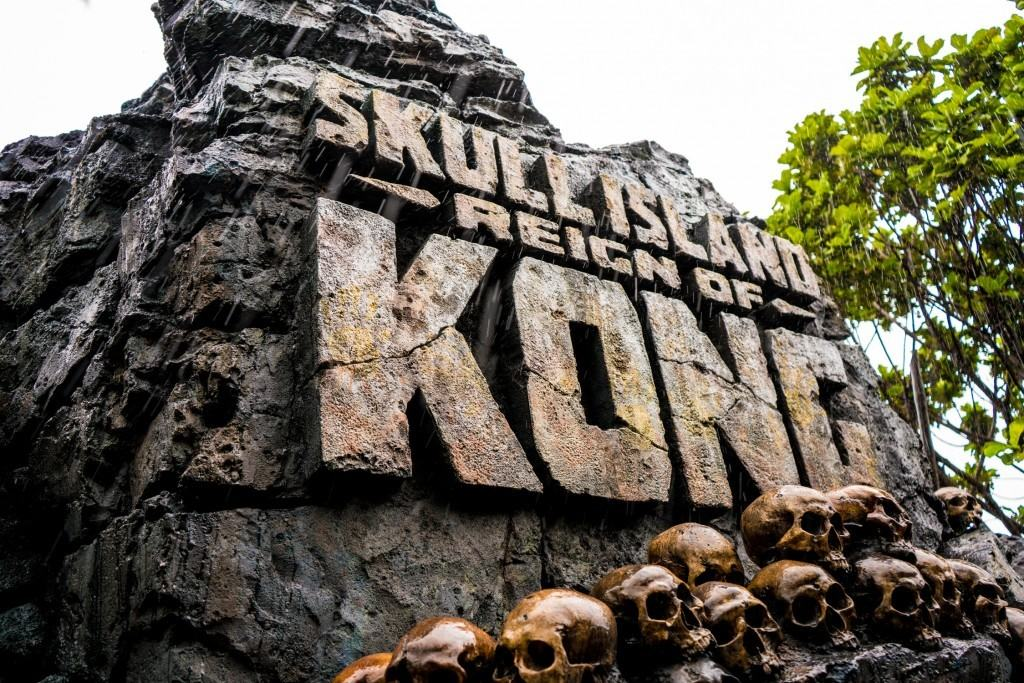 Skull Island: Reign of Kong entrance sign
