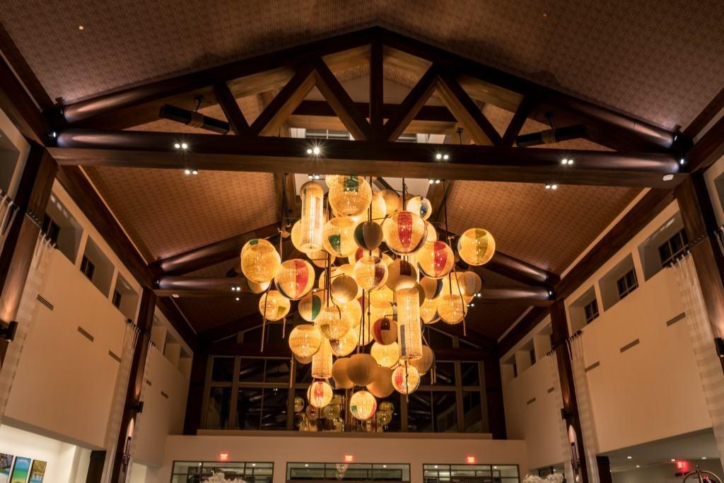 Loews Sapphire Falls Resort lobby at Universal Orlando