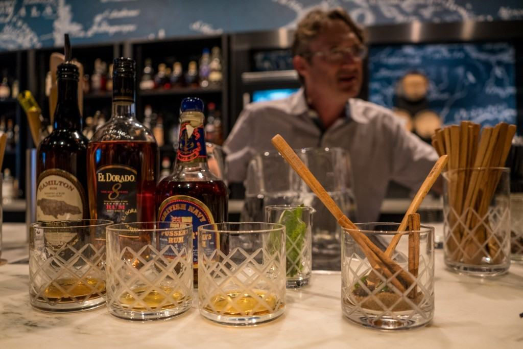 Strong Water Tavern - rum tasting at Loews Sapphire Falls Resort