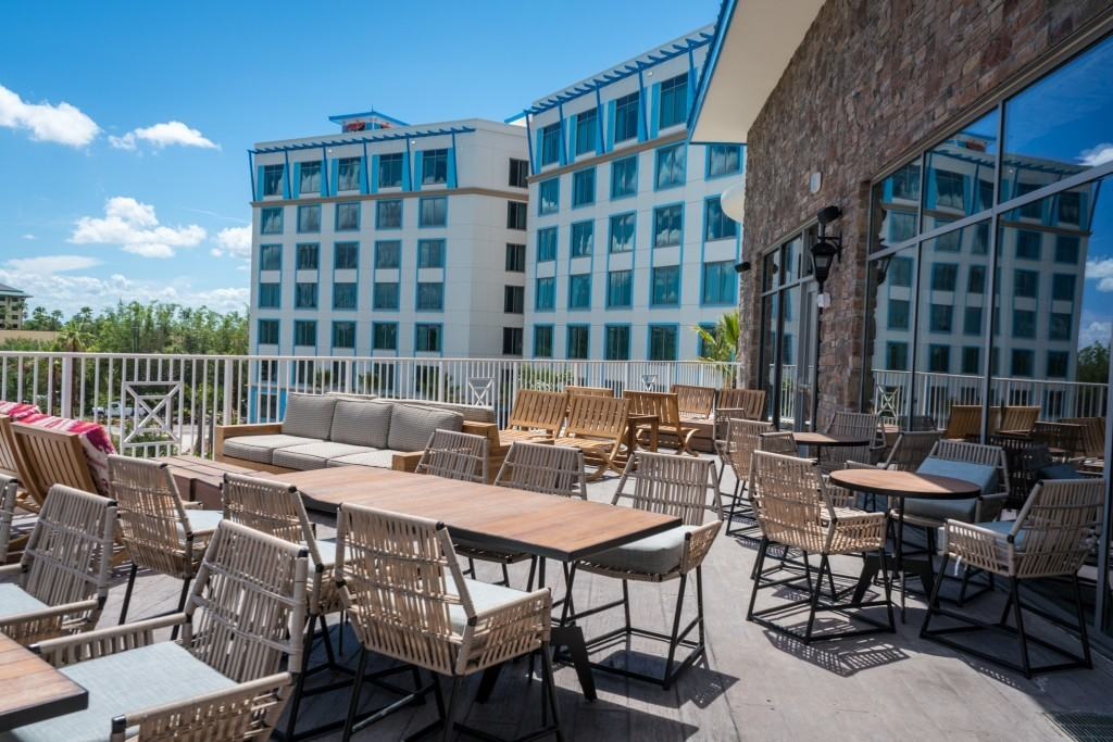 Outdoor terrace - Strong Water Tavern at Loews Sapphire Falls Resort