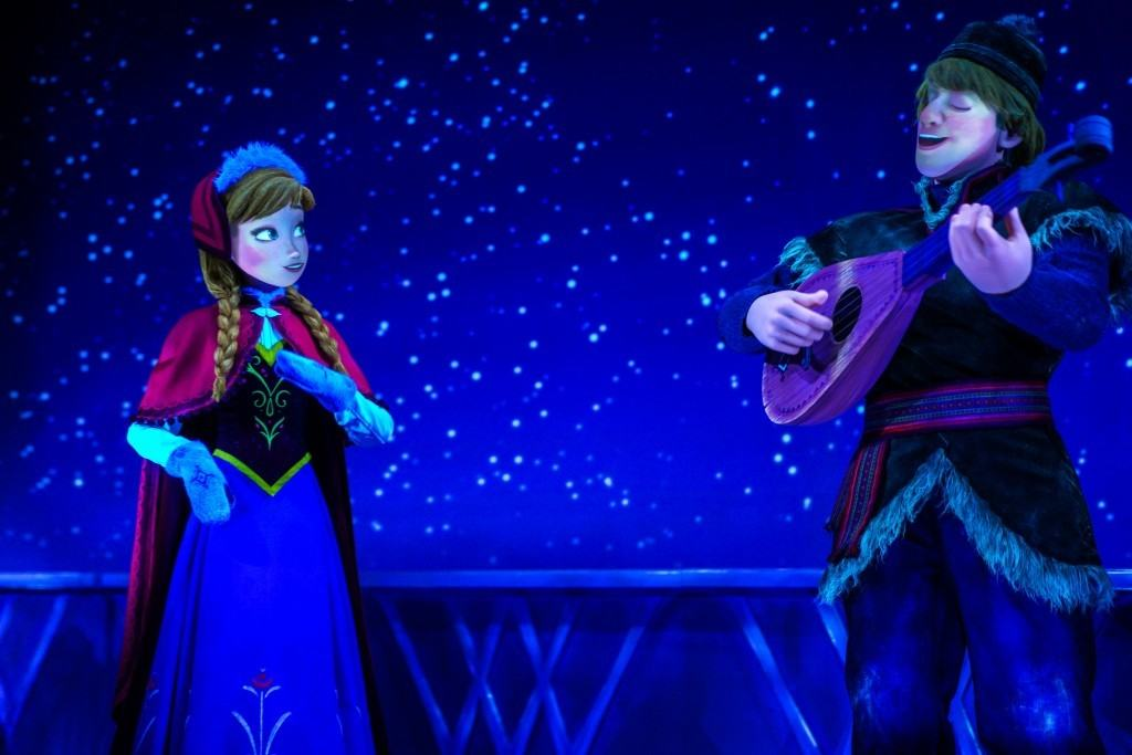 Anna and Kristoff on Frozen Ever After