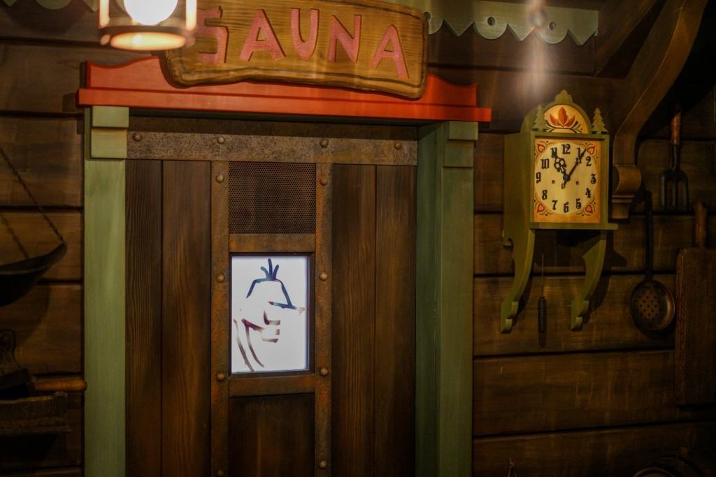 Oaken Sauna Frozen Ever After queue