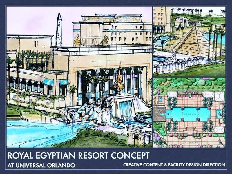 Universal Royal Egyptian Resort concept art