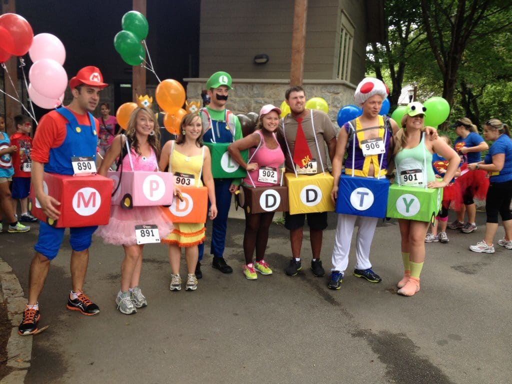 Homemade Super Mario Bros costumes