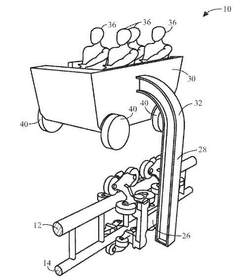 """Univeral's patent for """"boom coaster"""""""