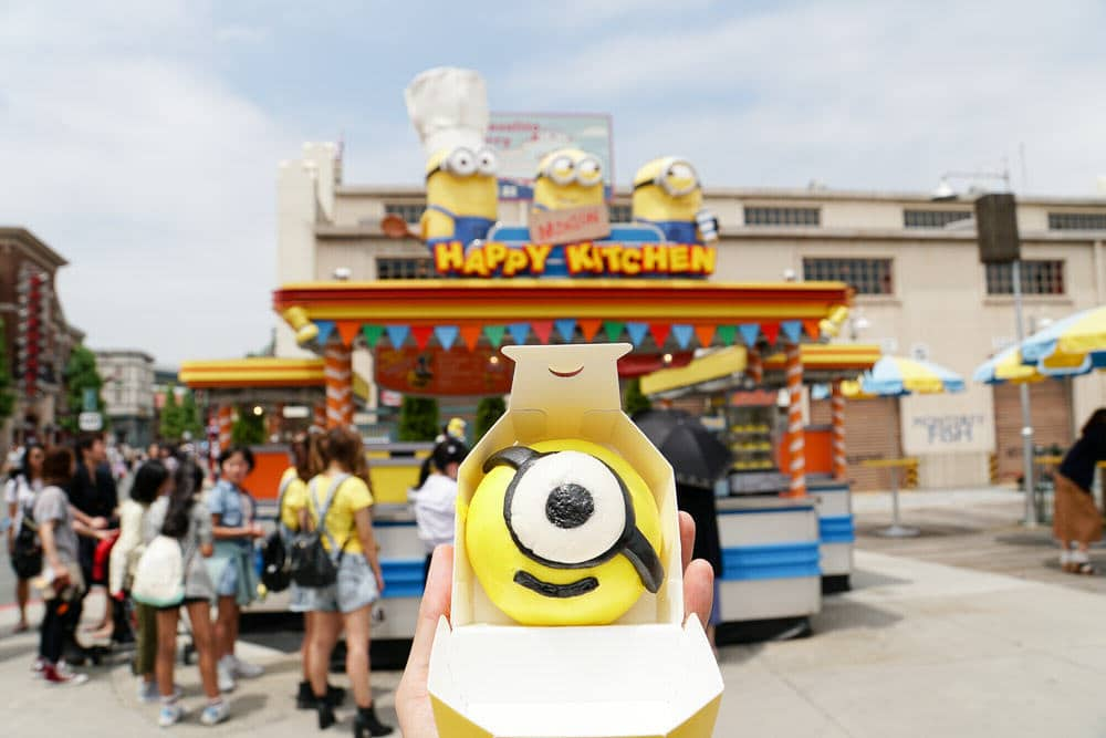 The Minion Bun at Universal Studios Japan