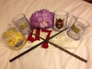 The Wizarding World of Harry Potter merchandise at Universal Orlando Resort