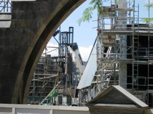 The Wizarding World of Harry Potter Hogsmeade construction at Universal's Islands of Adventure - September 20, 2009