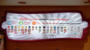 Coke Freestyle program at Universal Orlando.