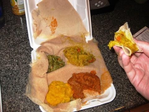Nile Ethiopian Cuisine: Vegetarian Combo.