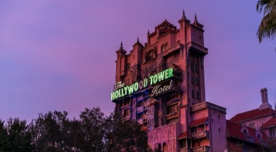 Tower of Terror at Sunset at Disney's Hollywood Studios
