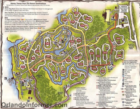Disney's Fort Wilderness map - March 2011.