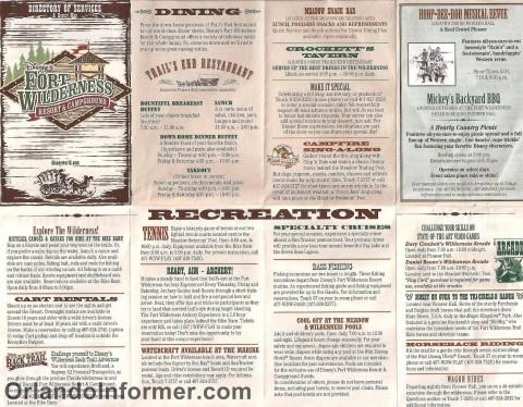 Disney's Fort Wilderness recreation map - March 2011.