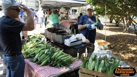 Orlando's Farmers Market at Lake Eola: Corner on the cob.