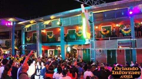 Universal CityWalk at night: Pat O'Brien's.