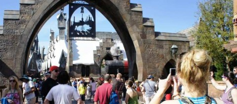 Enter the Wizarding World of Harry Potter at Universal Orlando Resort.