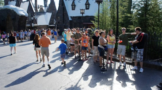 Forbidden Journey locker line at the Wizarding World of Harry Potter - May 31, 2011.