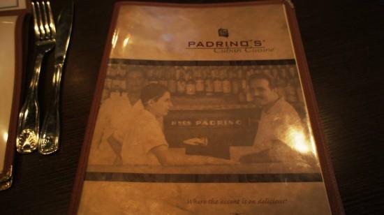 Padrino's Cuban Bistro: The menu.