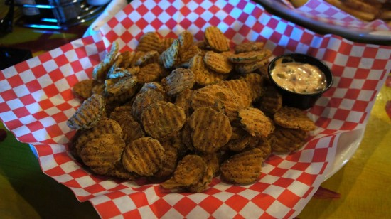 BB King's Blues Club at Pointe Orlando: Fried Dill Pickles.