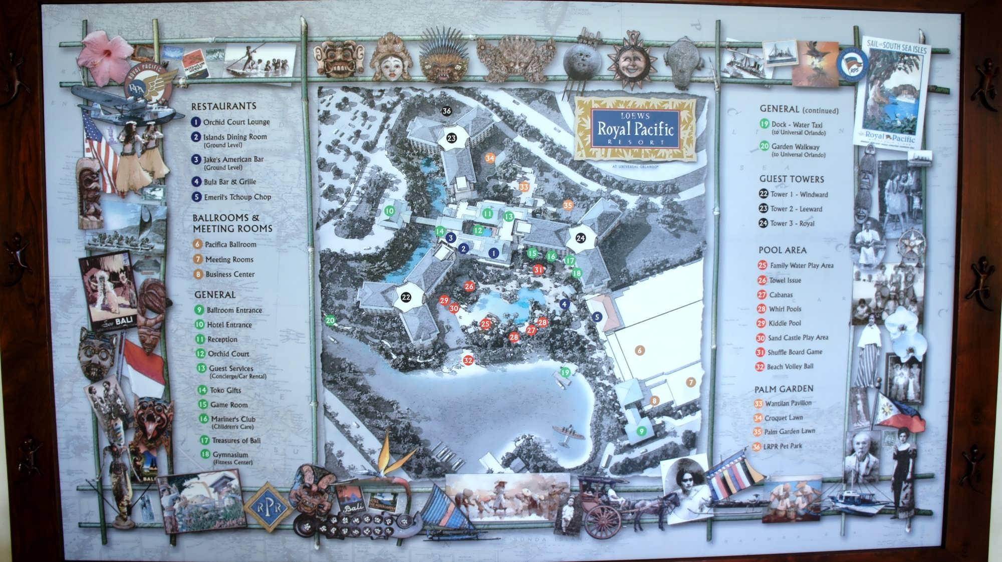 Royal Pacific Resort map