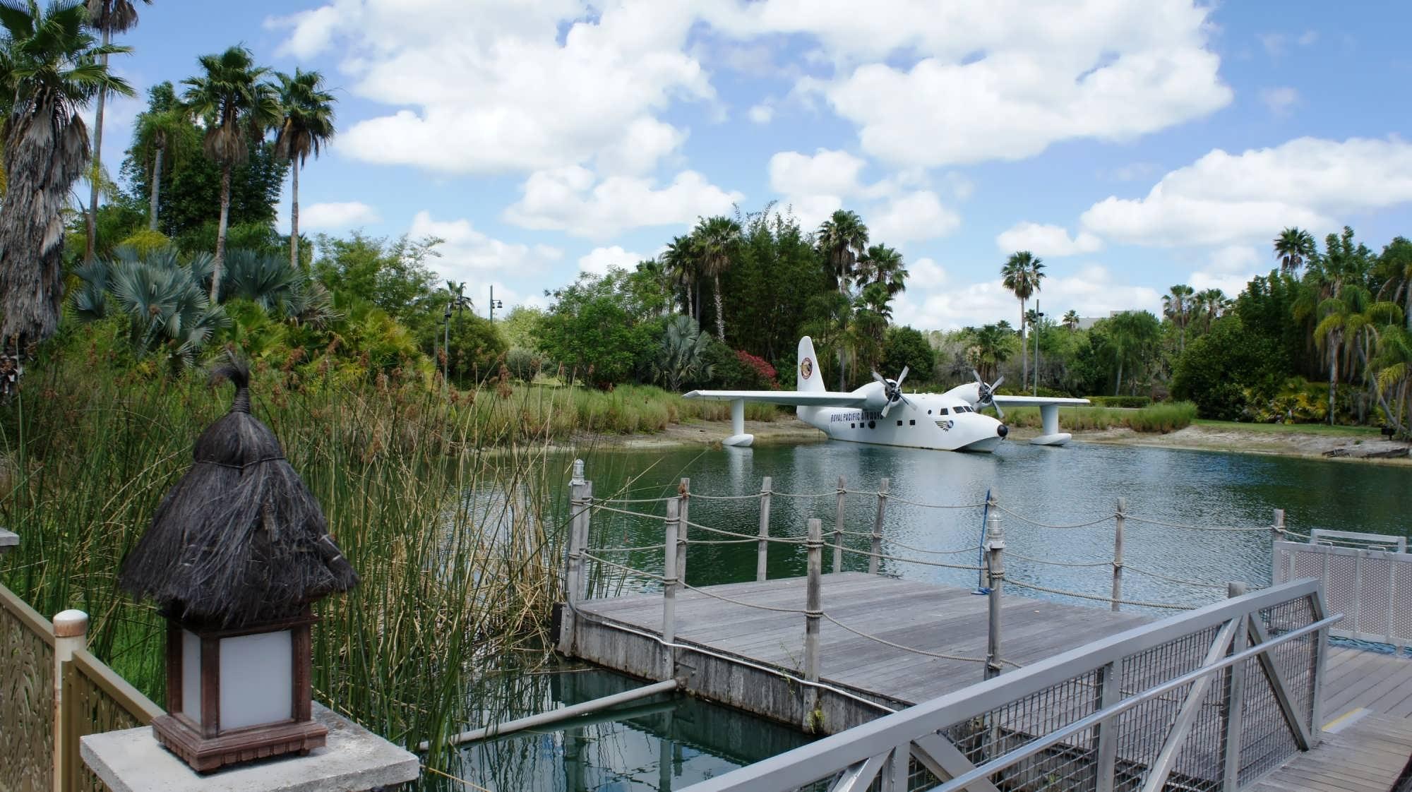 Water taxi dock at Royal Pacific Resort