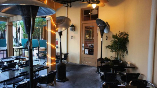 Seito Sushi in the Town of Celebration: Outdoor seating.