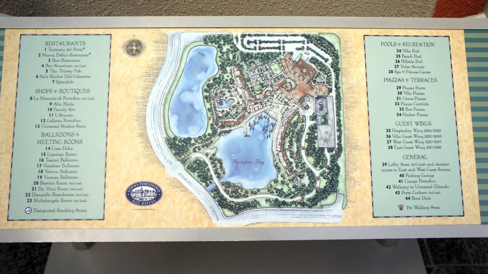 Portofino Bay Hotel map