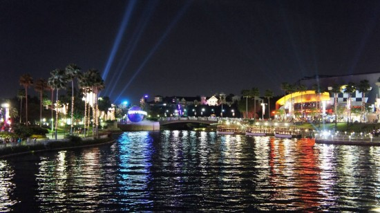 Universal CityWalk at night.