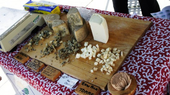 Winter Park Farmers Market: Free cheese samples.