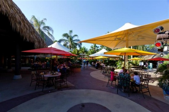 Discovery Cove Orlando: Dining area.