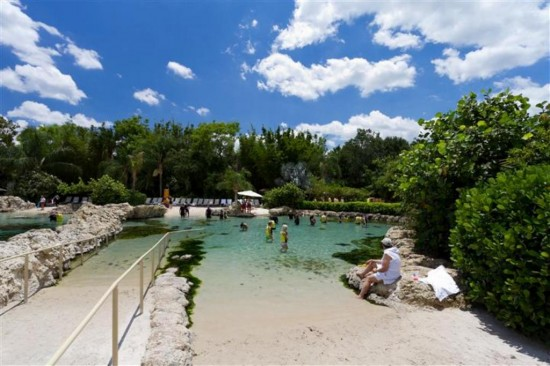 Discovery Cove Orlando: Entrance to the sting ray pool.