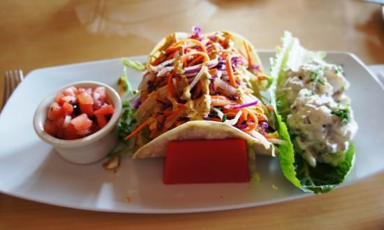 Blackened Fish Tacos at Mythos.