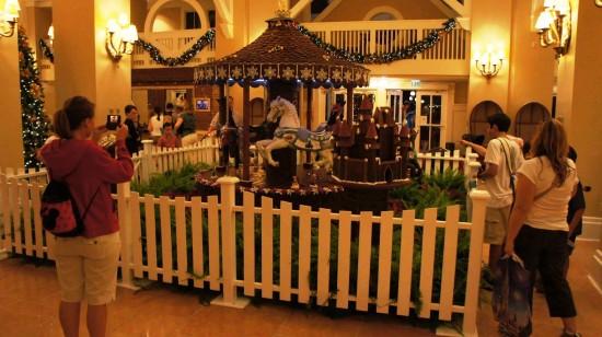 2011 holiday decorations at Disney's Beach Club Resort.