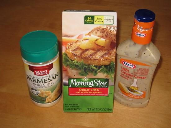Min & Bill's Chicken Caesar Sandwich: The ingredients.