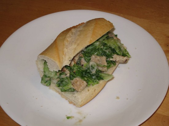 Min & Bill's Chicken Caesar Sandwich: A tasty success!
