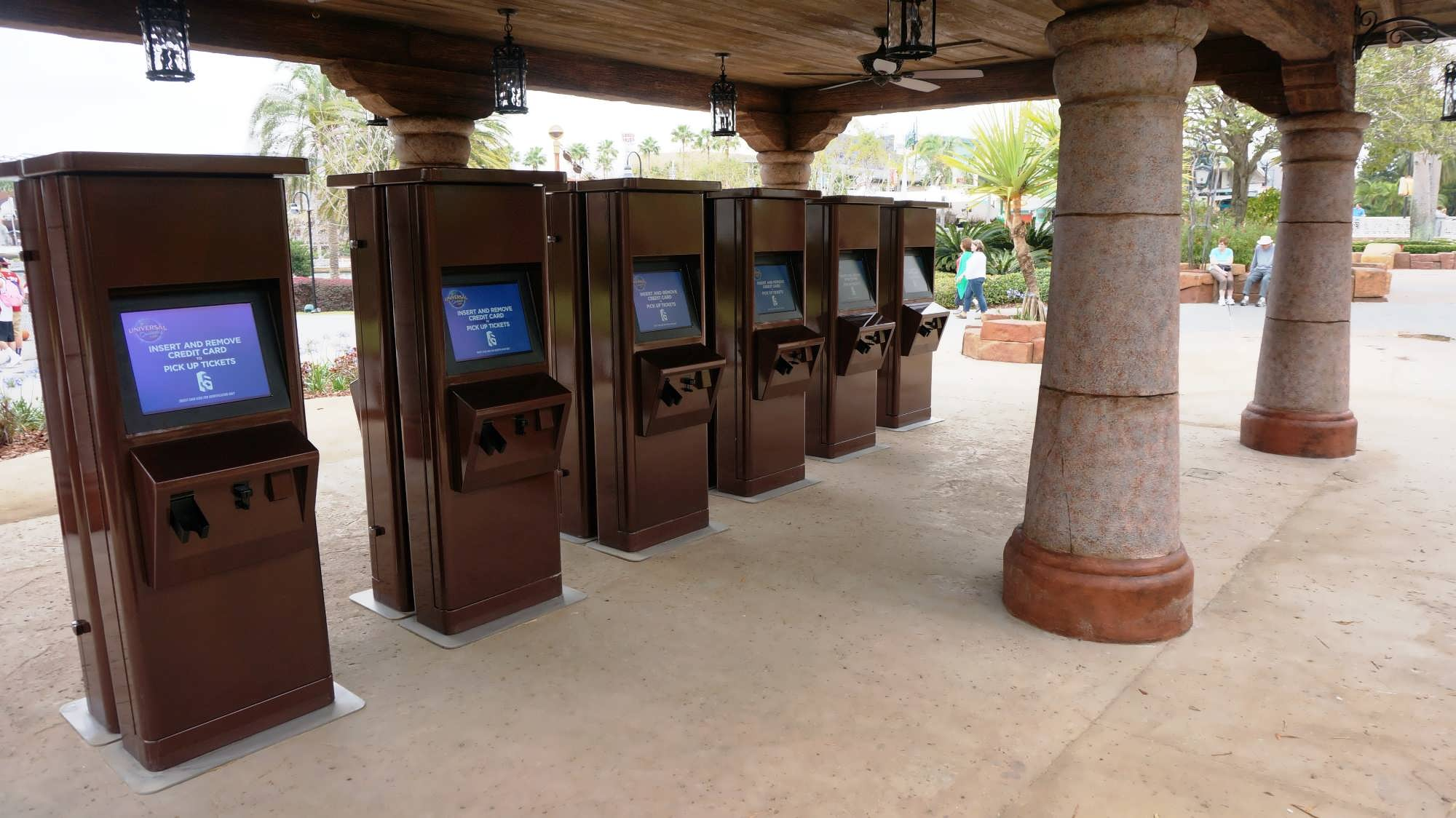 Electronic Will Call Kiosks at Islands of Adventure