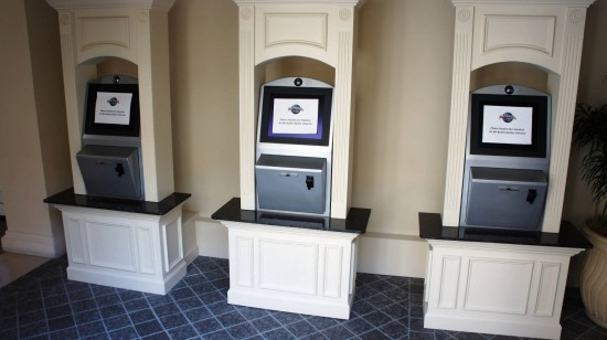Universal's PHOTO Express Pass machines at Portofino Bay Hotel.