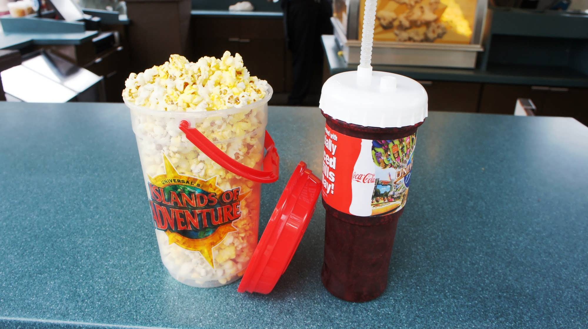 Refillable cups at Universal Studios Florida