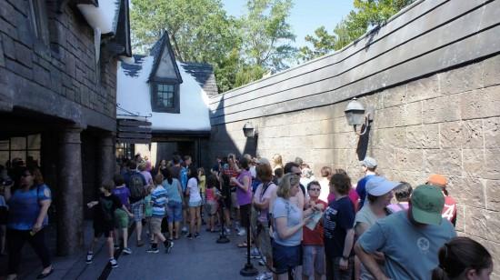 Spring Break crowds inside the Wizarding World of Harry Potter - April 2, 2012: Queue for Dervish & Banges.