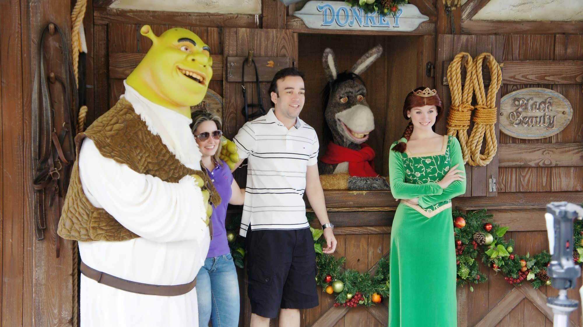 Meet the Shrek family at Universal Studios Florida.