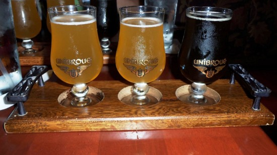 Le Cellier at Epcot's Canada Pavilion: Beer Flight.