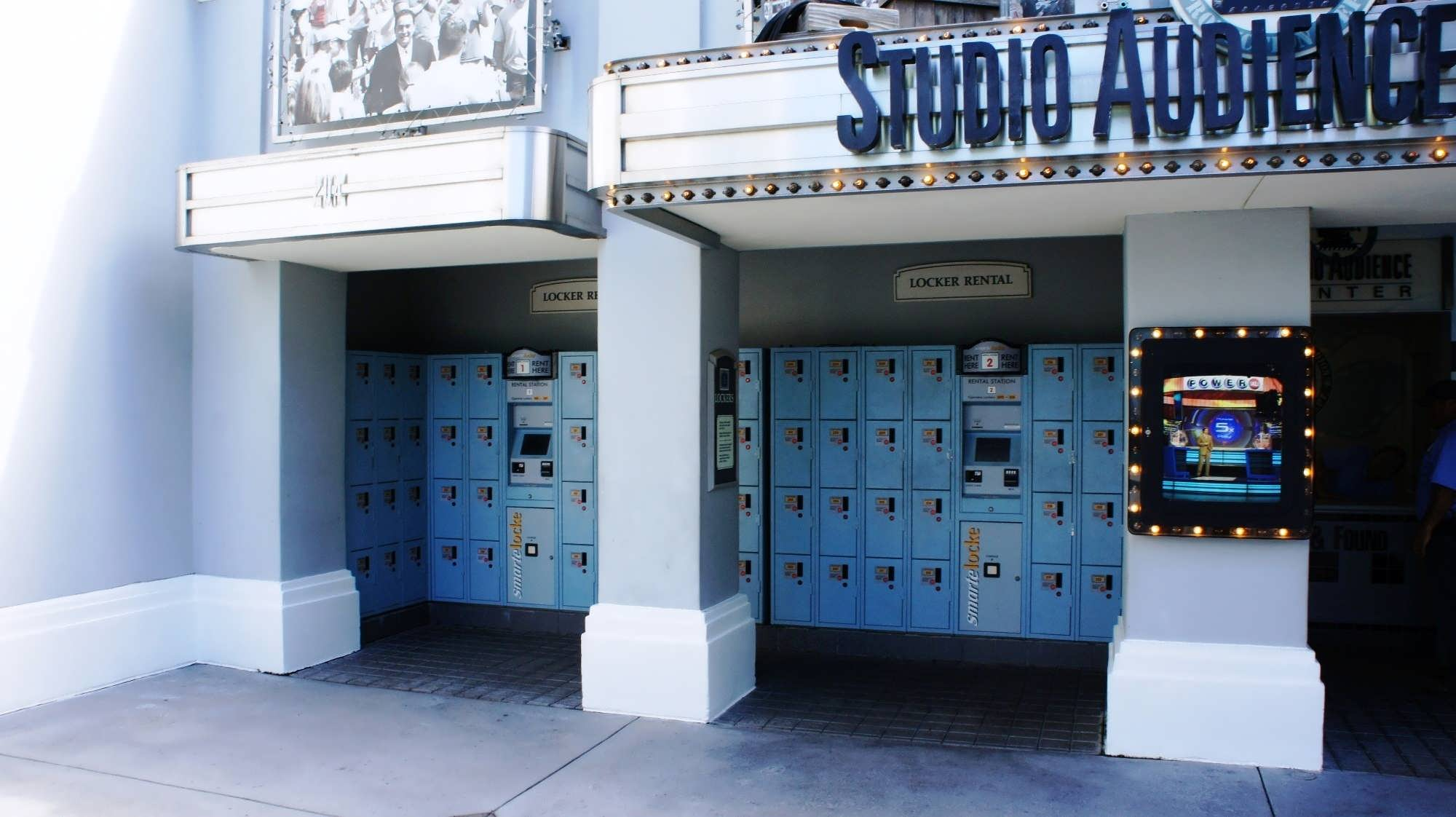 USF lockers – Set 3. Inside the park, to the right by the Studio Audience Center.
