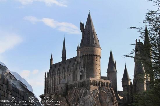 Hogwarts castle inside the Wizarding World of Harry Potter.