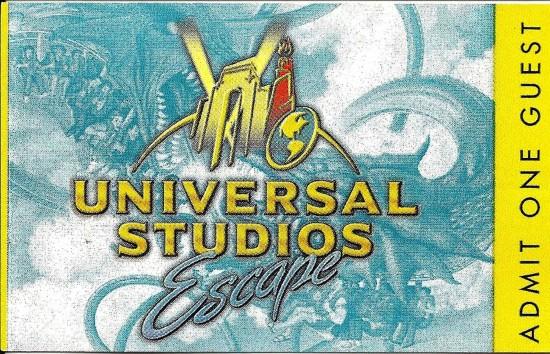 Admission ticket - 1999.